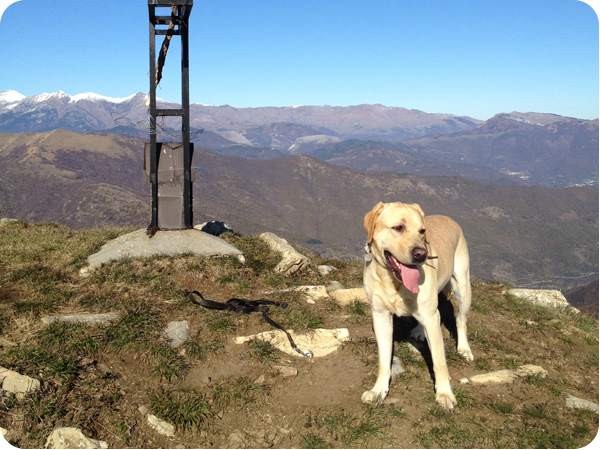Cooper on the top of the Monte Grande