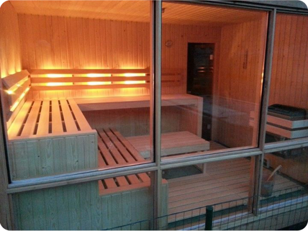 Sauna next to the pool