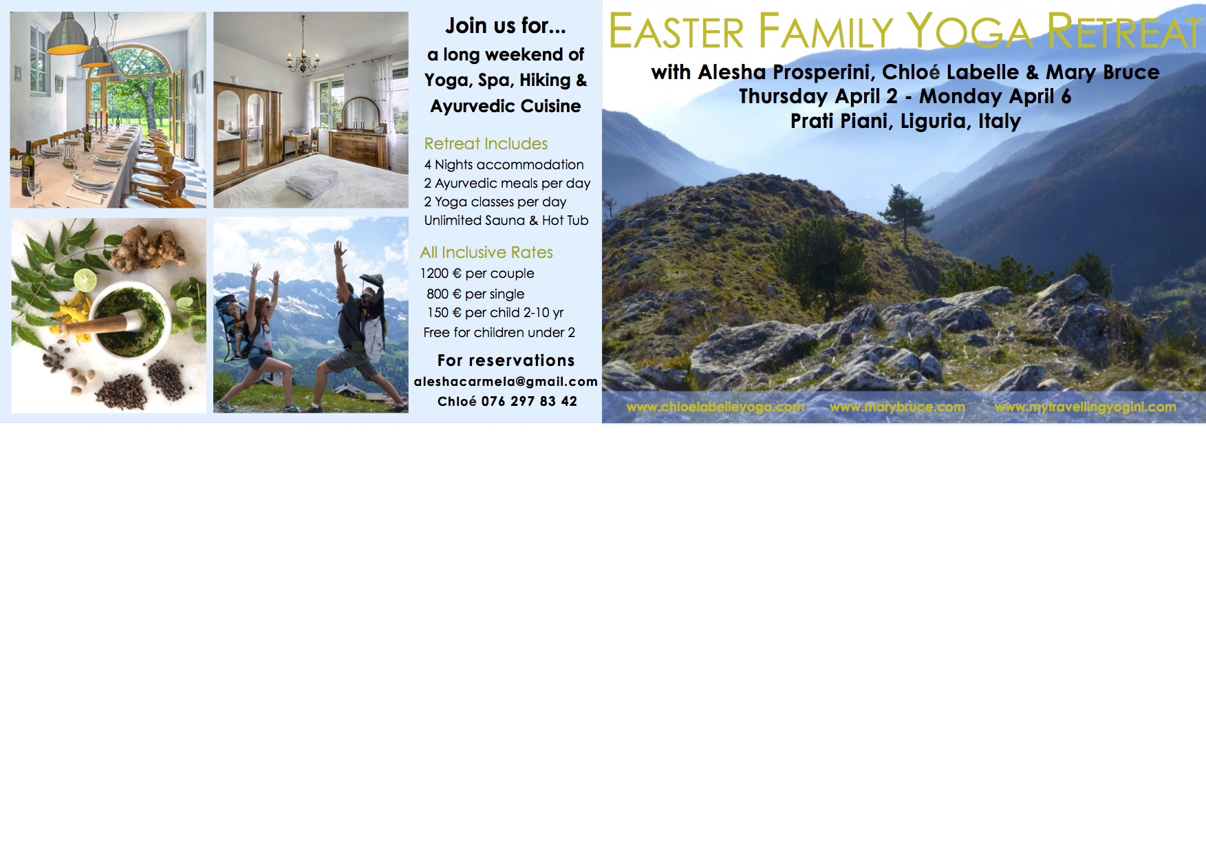 Easter Family Yoga Retreat Postcard - Alesha